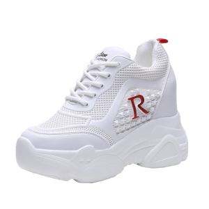 Increase Campus Shoes Get Height 11Cm / 4.3Inch Lace-Up Hidden Increase Athletic Shoes
