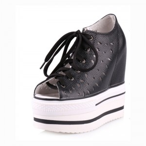 Height Increasing Elevator Sandals Shoes Height Elevating 13Cm / 5Inch Lace-Up Increase Walking Shoes