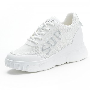 Taller Sports Shoes To Increase Height 7cm / 2.8Inch Lace-Up Hidden Increase Outdoor Shoes