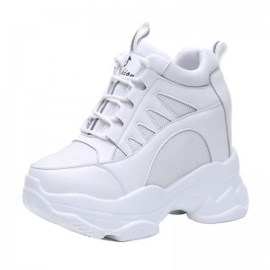 Height Increasing Elevator Racing Shoes That Give You Height 11Cm / 4.3Inch Lace-Up Increase Taller Sneakers