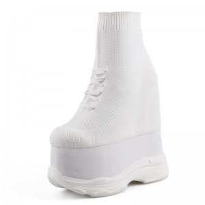 Elevating High Top Casual Shoes Get Taller 14cm / 5.5Inch Slip-On & Pull-On Hidden Taller Ankle Boots