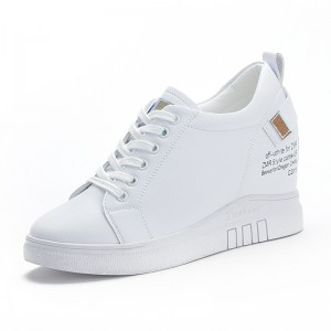 Height Wedge Casual Shoes Gain Altitude 7cm / 2.8Inch Lace-Up Height Increasing Elevator Walking Shoes