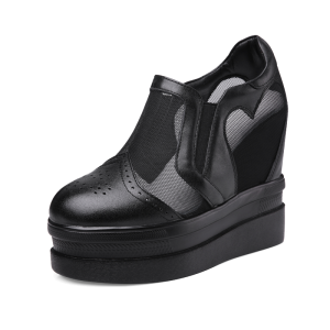 Increase Walking Shoes To Be Taller 12cm / 4.7Inch Slip-On & Pull-On Height Increasing Elevator Platform Shoes