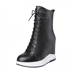 Elevating Combat Boot For Height Growth 12cm / 4.7Inch Lace-Up Elevating Lace Up Boot