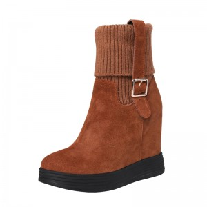 Hidden Height Ankle Boots Extra Tall 12cm / 4.7Inch Bungee Height Elevator Chelsea Boot