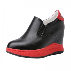 Taller Hieght Loafers To Be Height 10cm / 4Inch Slip-On & Pull-On Hidden High Heel Platform Shoes