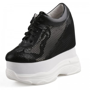 Hidden Wedges Platform Shoes That Make Men Look Talle 13Cm / 5Inch Lace-Up Hidden Wedges Walking Shoes