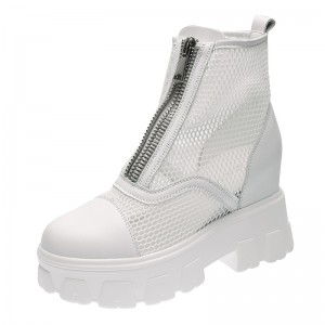 Taller Ankle Boots Add Altitude 8cm / 3.2Inch Zip Increase Taller Boots