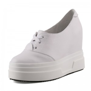 Hidden Increase Campus Shoes That Make You Taller 10cm / 4Inch Lace-Up Hidden Heel Walking Shoes