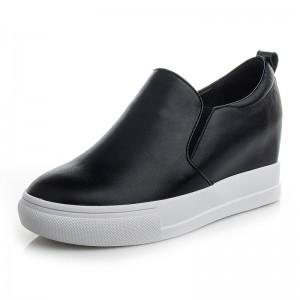 Hidden High Heel Loafers Hidden Insole 8cm / 3.2Inch Slip-On & Pull-On Hidden Wedge Heel Oxfords