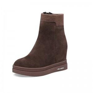 Hidden High Heel Chelsea Boot Height 10cm / 4Inch Zip Elevating Ankle Boots