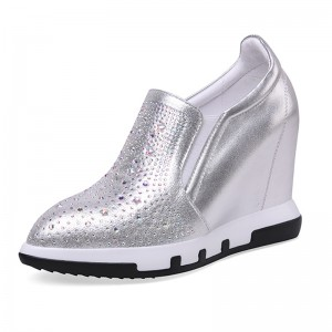 Elevated Walking Shoes High Heel 10cm / 4Inch Slip-On & Pull-On Increase Platform Shoes