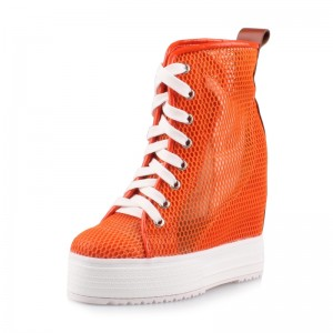 Taller Hieght High Top Casual Shoes Height Boosting 12cm / 4.7Inch Lace-Up Increase Chukka Boot