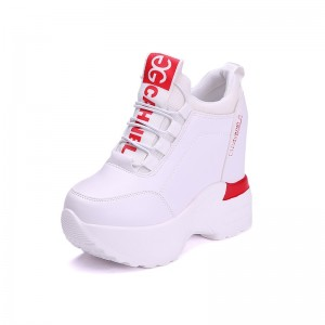 Elevated Platform Shoes Taller Height 11cm / 4.3Inch Lace-Up Height Increasing Elevator Athletic Shoes