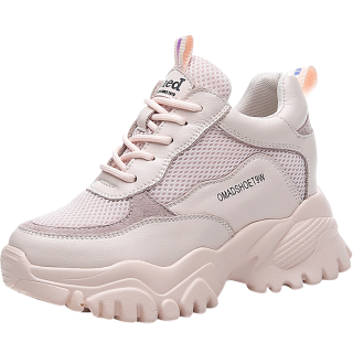 Elevated Sports Shoes Increasing Height 8cm / 3.2Inch Lace-Up Height Elevator Racing Shoes