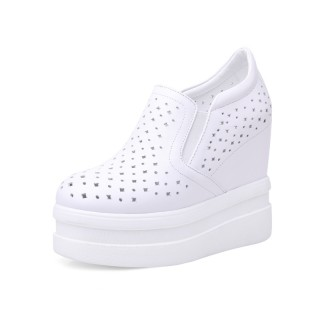 Hidden Height Platform Shoes To Look Taller 12cm / 4.7Inch Slip-On & Pull-On Hidden Lift Loafers