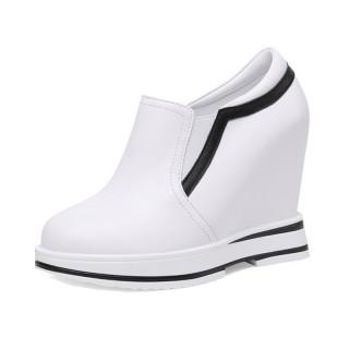 Hidden Elevator Walking Shoes Elevating 12cm / 4.7Inch Slip-On & Pull-On Hidden Wedges Platform Shoes