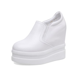 Elevated Dress Shoes Grow Tall 12cm / 4.7Inch Slip-On & Pull-On Height Increasing Casual Shoes