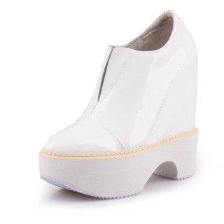 Hidden Wedges Oxfords Lift 13cm / 5Inch Slip-On & Pull-On Taller Hieght Dressy Shoes