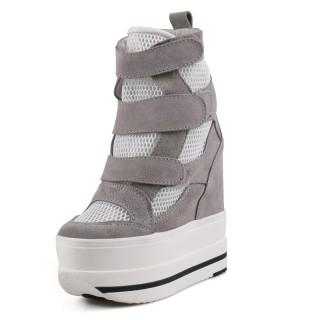 Elevator Platform Shoes Heel Height 14cm / 5.5Inch Slip-On & Pull-On Hidden Elevator Sandals Shoes