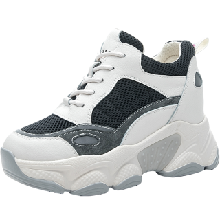 Height Increasing Elevator Sports Shoes Height Gaining 5cm / 2.0Inch Lace-Up Hidden Increase Outdoor Shoes