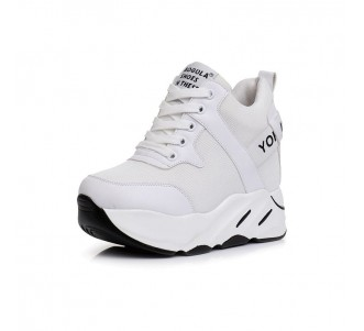 Elevating Racing Shoes Taller Height 12cm / 4.7Inch Lace-Up Height Increasing Outdoor Shoes